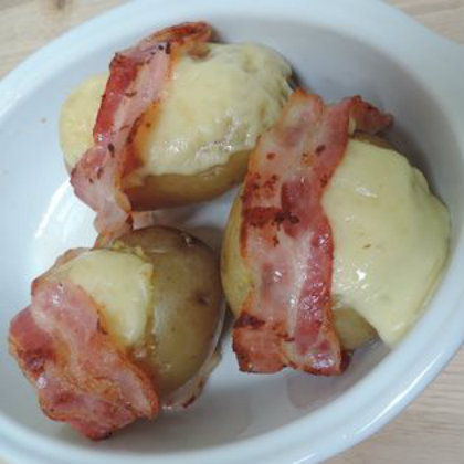 Potatoes Stuffed with Morbier and Bacon