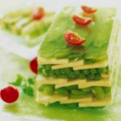 Terrine with Emmental and small vegetables