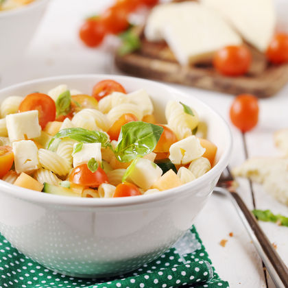 Pasta Salad with Lingot fleuri, Melon and Tomatoes - by Chef Nini